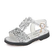 baratos Sapatos de Menina-Para Meninas Sapatos Couro Ecológico Verão Conforto / Sapatos para Daminhas de Honra Sandálias Caminhada Laço / Lantejoulas / Velcro para