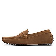 baratos Sapatos Masculinos-Homens Sapatos formais Camurça Primavera / Verão Mocassins e Slip-Ons Castanho Claro / Khaki / Azul Real