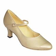 billige Moderne sko-Dame Moderne sko Sateng Høye hæler Tykk hæl Dansesko Svart / Mandel / Rosa / Ytelse / Trening