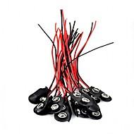 Χαμηλού Κόστους Φις & Τερματικά-20pcs 9v i τύπου υποδοχής σύνδεσης μπαταρίας 9 βύσμα σύνδεσης βύσματος μπαταρίας
