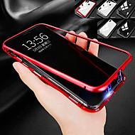 tanie -Kılıf Na jabłko iPhone X / iPhone 8 Odporne na wstrząsy / Magnetyczne Czarne etui Jendolity kolor Twarde Metal na iPhone X / iPhone 8 Plus / iPhone 8