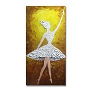 billiga Människomålningar-styledecor® modern handmålade abstrakt dansande tjej oljemålning väggkonst på förpackad duk
