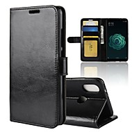 billiga Mobil cases & Skärmskydd-fodral Till Xiaomi Mi 6X Plånbok / Korthållare / Lucka Fodral Enfärgad Hårt PU läder för Xiaomi Mi 6X(Mi A2)