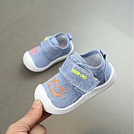 baratos Sapatos de Menino-Para Meninos Sapatos Linho Primavera & Outono Conforto / Primeiros Passos Tênis para Pêssego / Azul Claro / Khaki