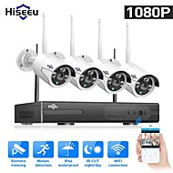 cheap Wireless CCTV System-Hiseeu® 1080P Wireless CCTV System 2MP 4CH Powerful NVR IP IR-CUT CCTV Camera IP Security System Surveillance Kits