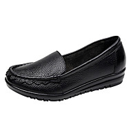 Χαμηλού Κόστους Γυναικείες Παντόφλες-Γυναικεία Παπούτσια Δερμάτινο Ανοιξη καλοκαίρι Ανατομικό Μοκασίνια & Ευκολόφορετα Επίπεδο Τακούνι Μαύρο / Κόκκινο