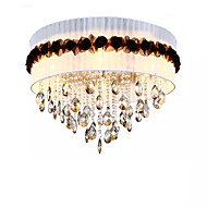 billige Taklamper-QIHengZhaoMing 6-Light Takplafond Omgivelseslys galvanisert Krystall Stof Krystall 110-120V / 220-240V Varm Hvit Pære Inkludert