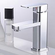 baratos Chuveiros-Torneira pia do banheiro - Cascata Cromado Montagem em Plataforma Monocomando e Uma Abertura
