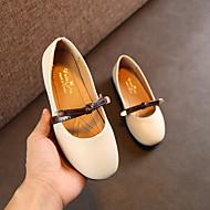 baratos Sapatos de Menina-Para Meninas Sapatos Couro Ecológico Primavera Verão Conforto Rasos Caminhada para Adolescente Bege / Marron / Rosa claro