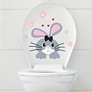 billiga Väggklistermärken-Toalettstickers - Animal Wall Stickers Djur Badrum