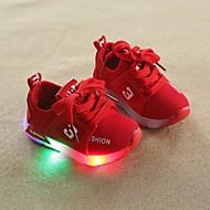 فتيات أحذية شبكة لربيع وصيف مريح أحذية رياضية المشي LED إلى طفل صغير رمادي / أحمر / زهري