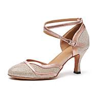 billige Moderne sko-Dame Moderne sko Lakklær / Syntetisk Høye hæler Rynker Tykk hæl Dansesko Gull / Svart / Naken