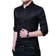 Herre - Ensfarvet Forretning Skjorte
