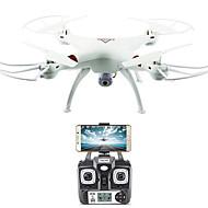 RC Drone FLYRC X53 RTF 4 Kanaler 6 Akse 2.4G Med HD-kamera 0.3MP 640P*480P Fjernstyret quadcopter En Knap Til Returflyvning / Auto-Takeoff / Adgang Til Real-Tid Optagelser Fjernstyret Quadcopter