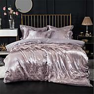 billiga Påslakan-Påslakan Sets Lyx 100% bomull / Silke / Bomullsblandning / Bomull Jacquard Tryckt & Jacquard 4 delar