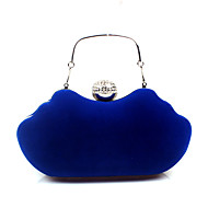 baratos Clutches & Bolsas de Noite-Mulheres Bolsas Veludo Cotelê / Veludo Bolsa de Festa Detalhes em Cristal Fúcsia / Vinho / Azul Real
