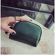 baratos Clutches & Bolsas de Noite-Mulheres Bolsas PU Bolsa de Mão Ziper Verde / Preto