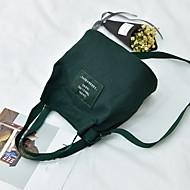 baratos Bolsas de Ombro-Mulheres Bolsas Tela de pintura Bolsa de Ombro Ziper Cinzento / Amarelo / Verde Escuro
