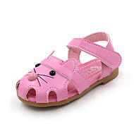 tanie Obuwie chłopięce-Dla chłopców Obuwie PU Lato Wygoda Sandały Spacery na Brzdąc Biały / Fuksja / Różowy