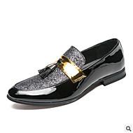 baratos Sapatos Masculinos-Homens Sapatos formais Couro Ecológico Verão Conforto Mocassins e Slip-Ons Preto / Prata