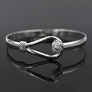 Damen Armreife Sterling Silber Blume damas Armbänder Schmuck Silber Für Hochzeit Party Alltag Normal