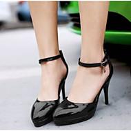 Kadın's Ayakkabı PU Yaz Rahat Topuklular Stiletto Topuk Günlük için Siyah / Kırmzı / Pembe