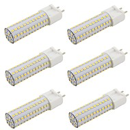 billige Bi-pin lamper med LED-6pcs 9 W 800 lm G12 LED-lamper med G-sokkel 108 LED perler SMD 2835 Varm hvit / Kjølig hvit 85-265 V