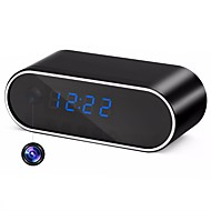 billige Innendørs IP Nettverkskameraer-HQCAM H.264 WiFi Table Clock Mini Camera 720P HD IP P2P DVR Camcorder Alarm Set Night Vision Motion Sensor Remote Monitor Micro Cam 1 mp IP Camera Innendørs Support0 GB