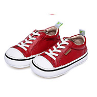 baratos Sapatos de Menina-Para Meninas Sapatos Pele Primavera & Outono Conforto Tênis Elástico para Bebê Dourado / Vermelho / Rosa claro