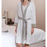 billiga Handdukar och badrockar-Överlägsen kvalitet Badrock, Enfärgad Bambu, bomullsblandning / Viskos / Lycra Spandex Badrum 1 pcs