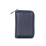 Χαμηλού Κόστους Card & ID Holder-Δερμάτινο Θήκη για κάρτα & ταυτότητα Φερμουάρ Γκρίζο / Βυσσινί / Ροζ