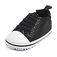 baratos Sapatos de Menino-Para Meninos / Para Meninas Sapatos Lona Primavera & Outono Primeiros Passos Tênis Lantejoulas para Bebê Prateado / Vermelho / Rosa claro