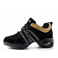 billige Jazz-sko-Dame Jazz-sko PU Joggesko Kubansk hæl Dansesko Svart / Grå / Rød