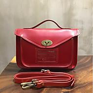 baratos Bolsas Satchel-sacos de mulheres rebite de bolsa de couro napa vermelho / preto / bege