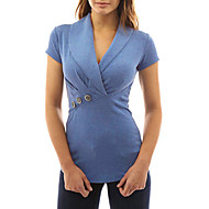 Dame - Ensfarvet Basale / Gade T-shirt