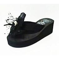 cheap -Women's Shoes PU(Polyurethane) Summer Comfort Slippers & Flip-Flops Wedge Heel Black / Pink
