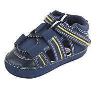 baratos Sapatos de Menino-Para Meninos / Para Meninas Sapatos Couro Ecológico Primavera & Outono Primeiros Passos Tênis Velcro para Bebê Vermelho / Khaki / Azul Real