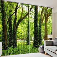 billige Gardiner ogdraperinger-3D gardiner Soverom Geometrisk Polyester Trykket / Blackout