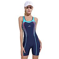Dame badedragt Modstandsdygtig overfor klorin, Bekvem, Sport Nylon / Spandex Uden ærmer Badetøj Strand Tøj Bodysuit Patchwork Svømning