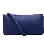 baratos Clutches & Bolsas de Noite-Mulheres Bolsas PU Bolsa de Mão Ziper Preto / Vermelho / Cinzento