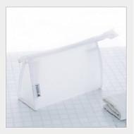 お買い得  コスメティックバッグ-PVC 化粧ポーチ ジッパー ホワイト / ブラック