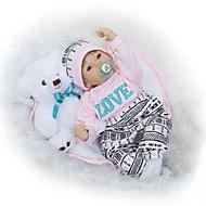 NPKCOLLECTION Reborn-dukker Babypiger 24 inch livagtige Hånd Anvendte Øjenvipper Tippede og forseglede negle Børne Pige Legetøj Gave / Floppy Head / Naturlig hudfarve