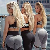 Γυναικεία Patchwork Παντελόνι για γιόγκα Σκούρο γκρι Ανοικτό Γκρίζο Αθλητισμός Καρδιά Spandex Ψηλοκάβαλο Καλσόν Ποδηλασία Κολάν Zumba Τρέξιμο Fitness Ρούχα Γυμναστικής / Ελαστικό / Αντίστροφη καρότσα