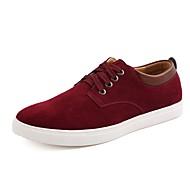 baratos Sapatos Masculinos-Homens Camurça Outono & inverno Conforto Tênis Marron / Azul / Camel