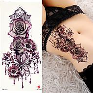 billiga Temporära tatueringar-3 pcs tillfälliga tatueringar Blomserier / Romantisk serie Lena klistermärken / Säkerhet Body art arm / skuldra / Dekalstil tillfälliga tatueringar