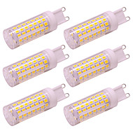 billige Bi-pin lamper med LED-6pcs 5 W 420 lm G9 LED-lamper med G-sokkel 88 LED perler SMD 2835 Nytt Design Varm hvit / Kjølig hvit 100-240 V