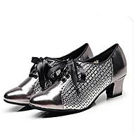 billige Sko til latindans-Dame Sko til latindans / Ballett PU Joggesko Slim High Heel Dansesko Svart / Grå