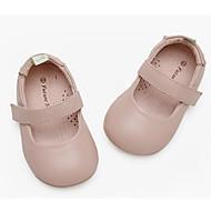 baratos Sapatos de Menina-Para Meninas Sapatos Pele Verão Sapatos para Daminhas de Honra Rasos para Bebê Preto / Vermelho / Rosa claro