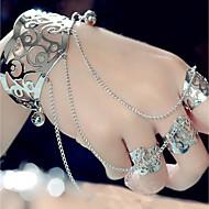Per donna Bracciali a polsino Braccialetti anello Creativo Importante Donne Iperbole Di tendenza Bracciali Gioielli Oro / Argento Per Evento Bar Costumi Cosplay