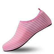 billige Træningssko til damer-Dame Sko Elastisk stof Forår sommer Komfort Sportssko Flodsko Flade hæle Blå / Lys pink / Lyseblå / Stribet